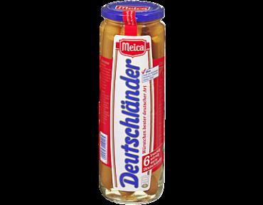 6 saucisses Deutschländer dans bocal en verre de 330g