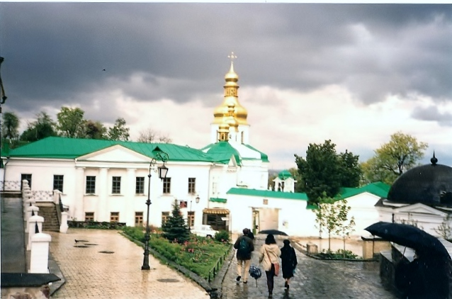 Ma guide et moi. Kiev 1998