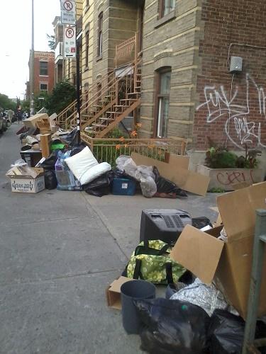 1er juillet. Moving day à Montréal