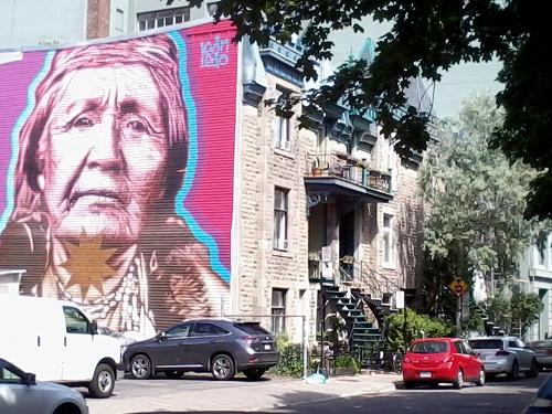 Graff de Kevin Levo - Quartier St Laurent - Montréal.